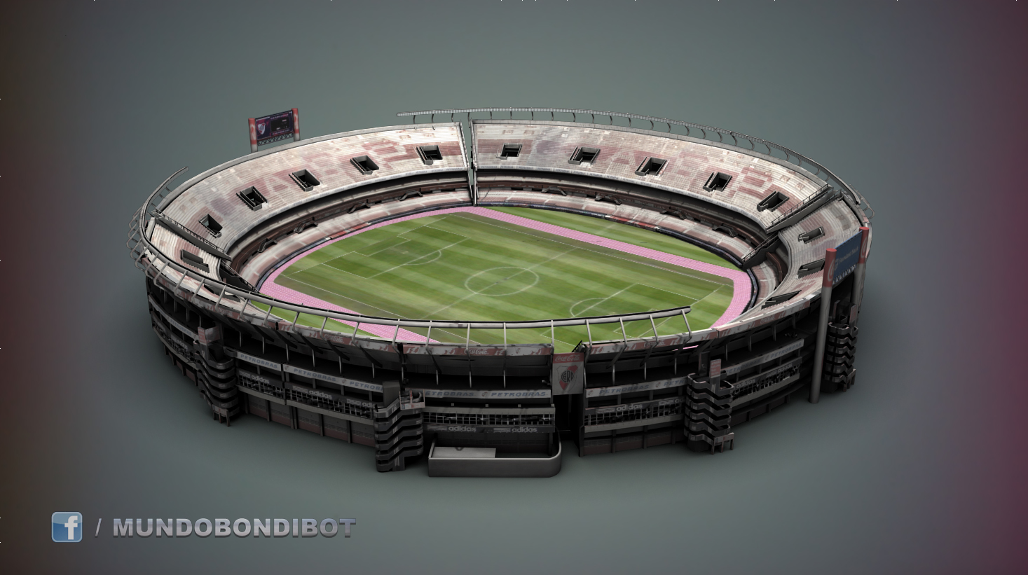 Estadio Monumental River Plate 3d