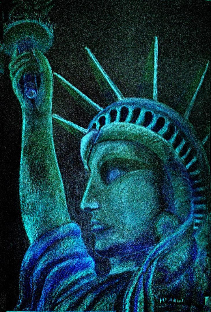 """""""Estatua de la Libertad"""" Dibujo relaizado por Mª Antonia Rubio Maeso."""