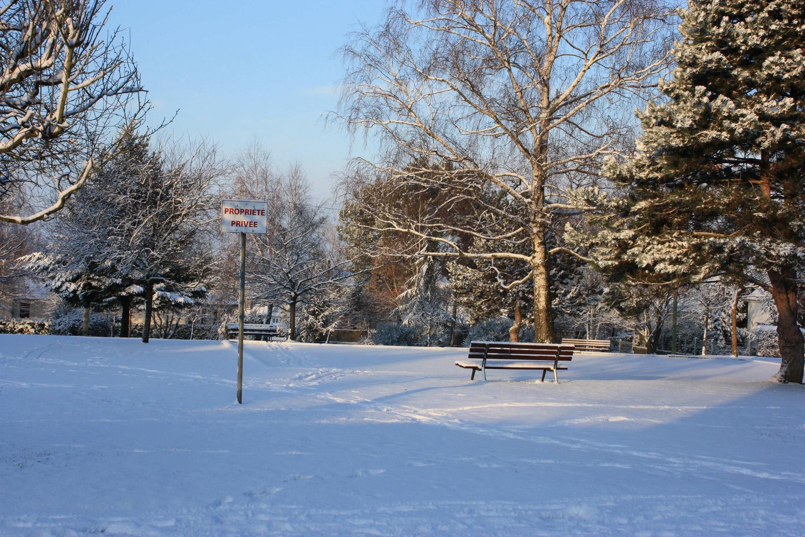 Et neige sous le soleil