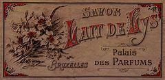 Etikett einer französischen Kosmetik