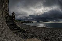 Etretat - die Treppe zum Strand