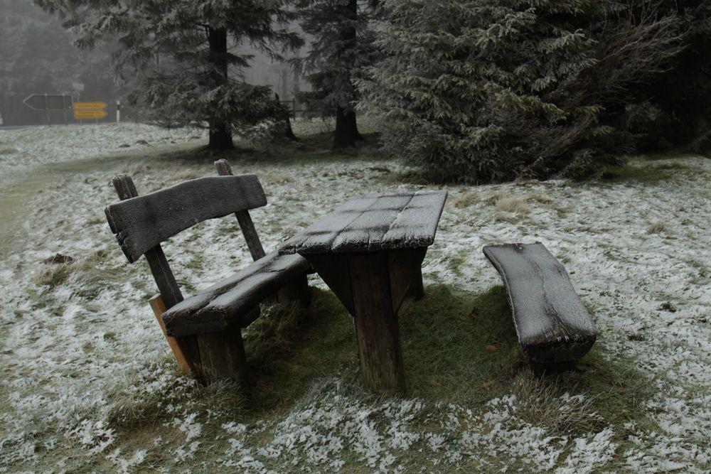 Etwas kalt zum sitzen