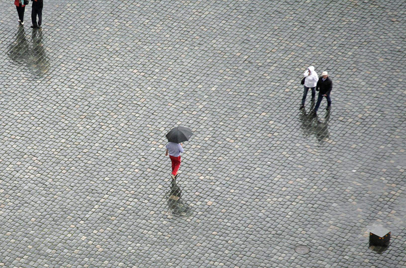 etwas Rotes in Dresden