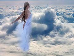 Eu flutuo em nuvens