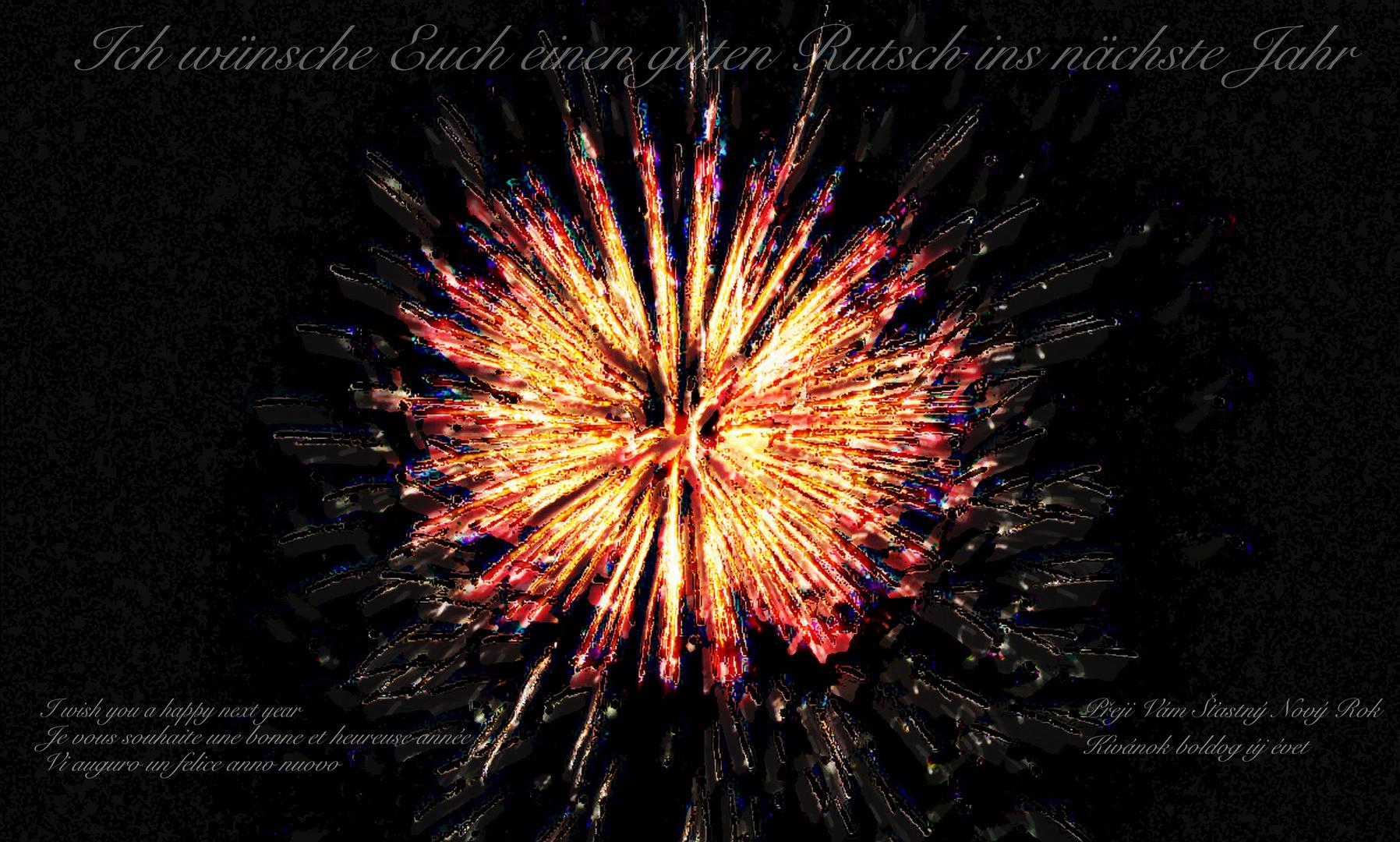 Euch allen einen guten Rutsch ins neue Jahr Foto & Bild | karten und ...