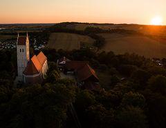 Eugenbach im Sonnenuntergang
