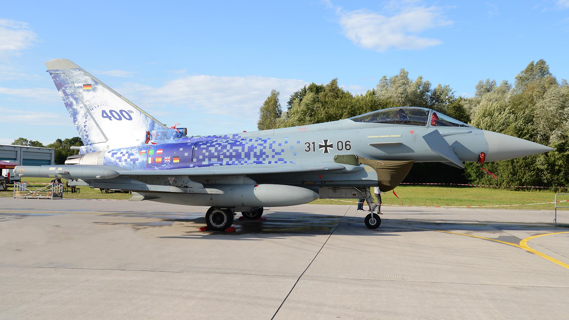 """Eurofighter mit Sonderlackierung vom Taktisches Luftwaffengeschwader 31 """"Boelcke"""""""