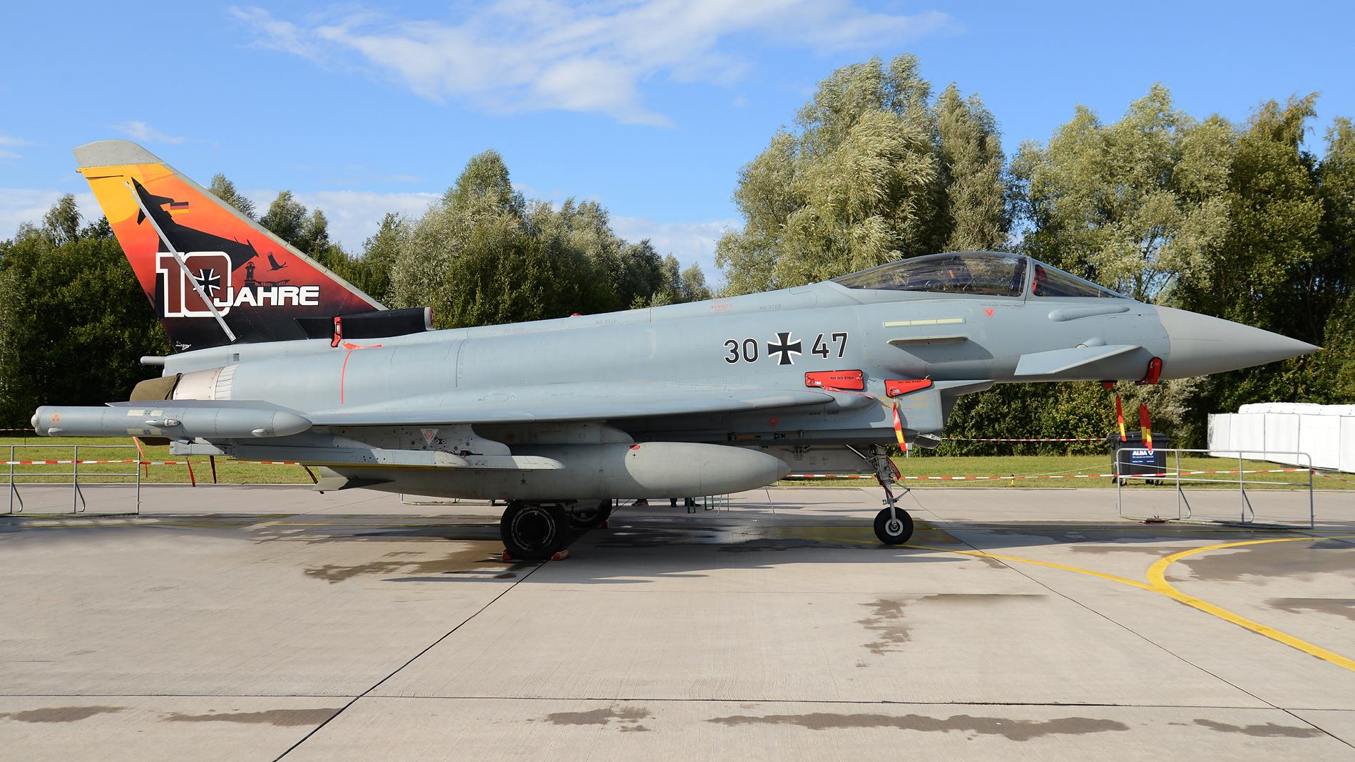 """Eurofighter mit Sonderlackierung vom Taktisches Luftwaffengeschwader 73 """"Steinhoff"""""""