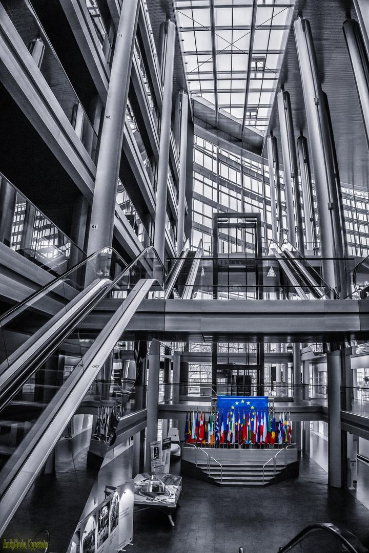 Europäisches Parlament in Straßburg Foyer zum Plenarsaal