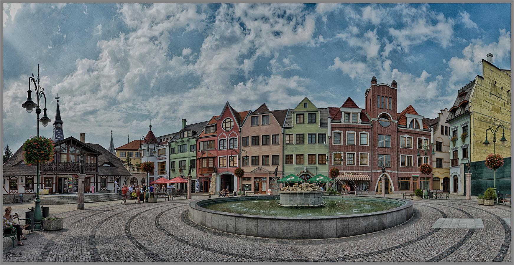 Europaplatz in Komarno (Slowakei)