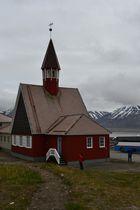 Ev. Kirche in Longyarbyen Sommer 2014