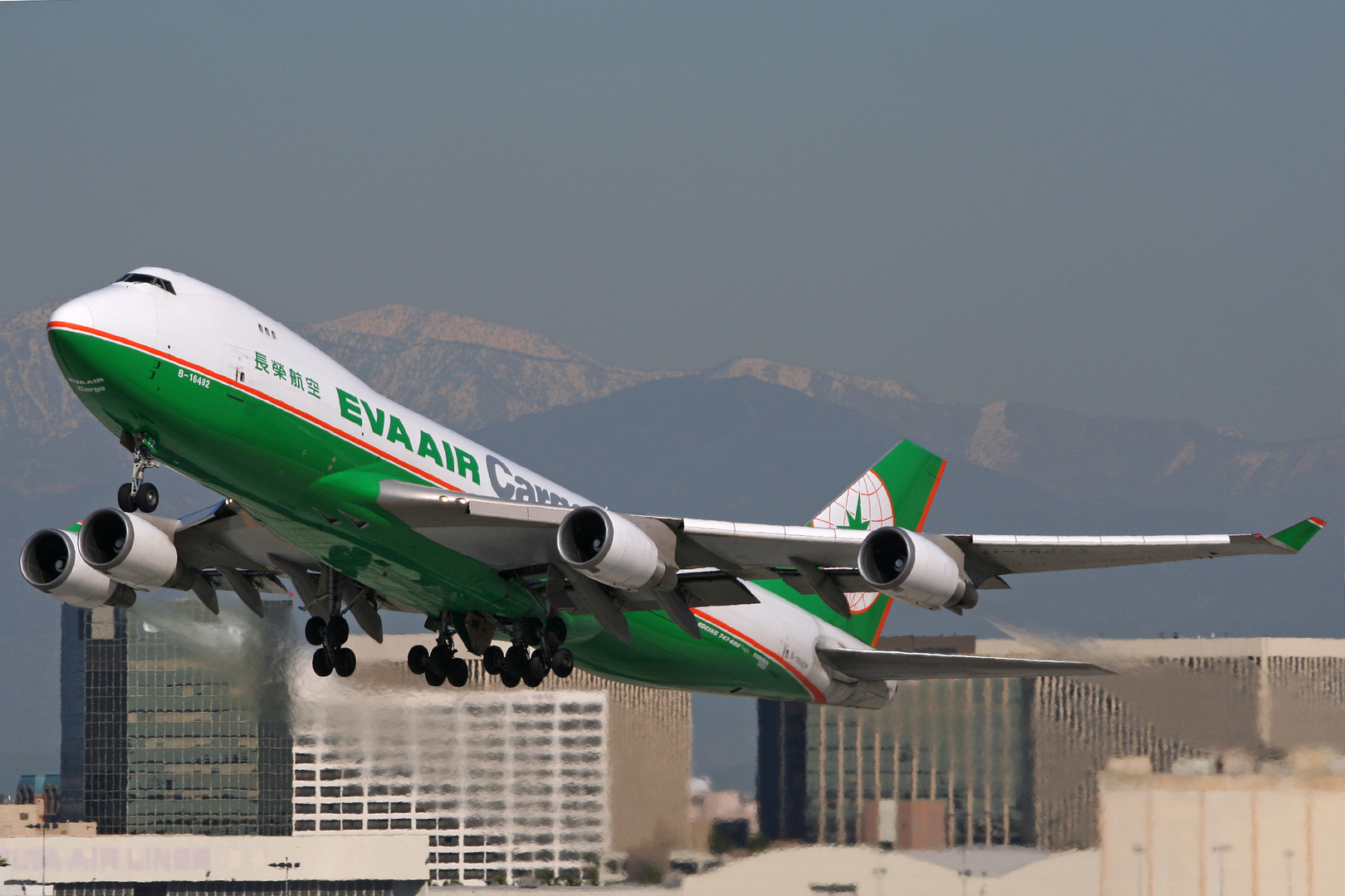 Eva Air Cargo Boeing 747-400 Los Angeles Februar 2008