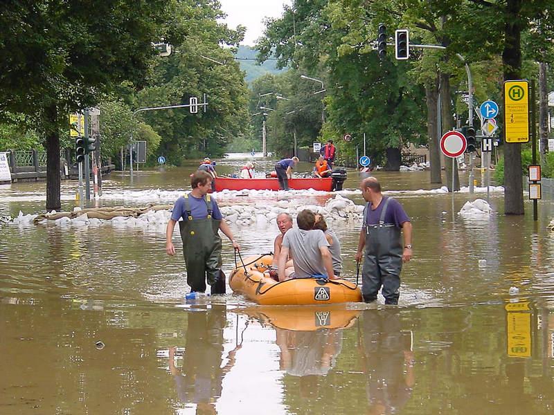 Evakuierung Laubegast
