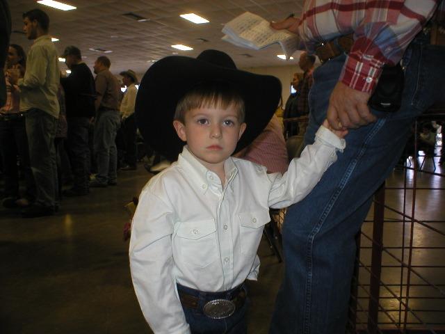 Evan in hand