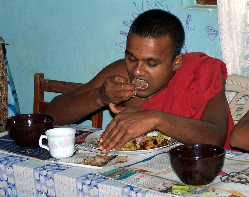 Even monks do eat