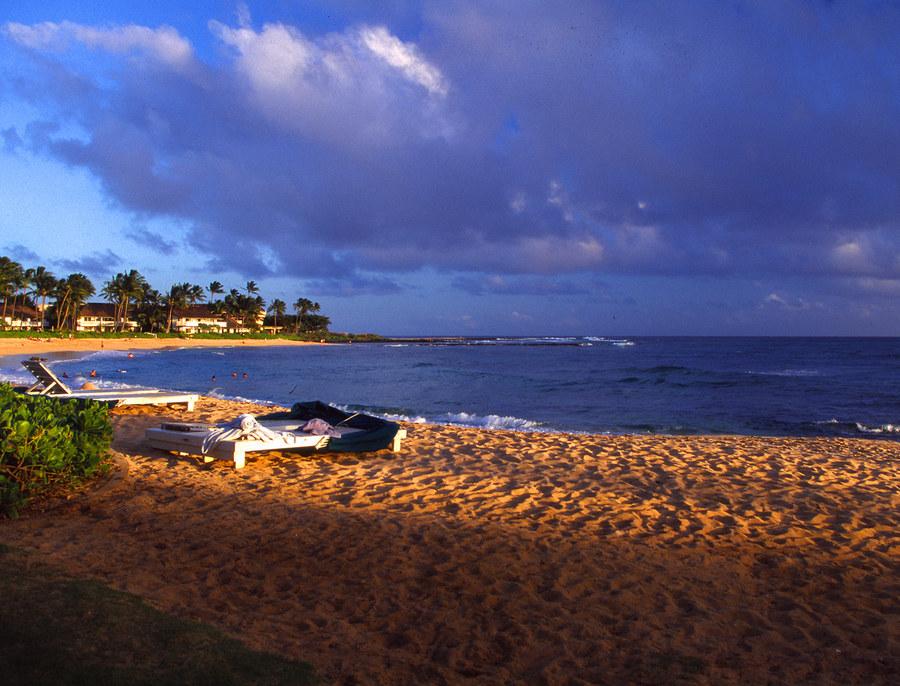 Evening at Poipu Beach, Kauai