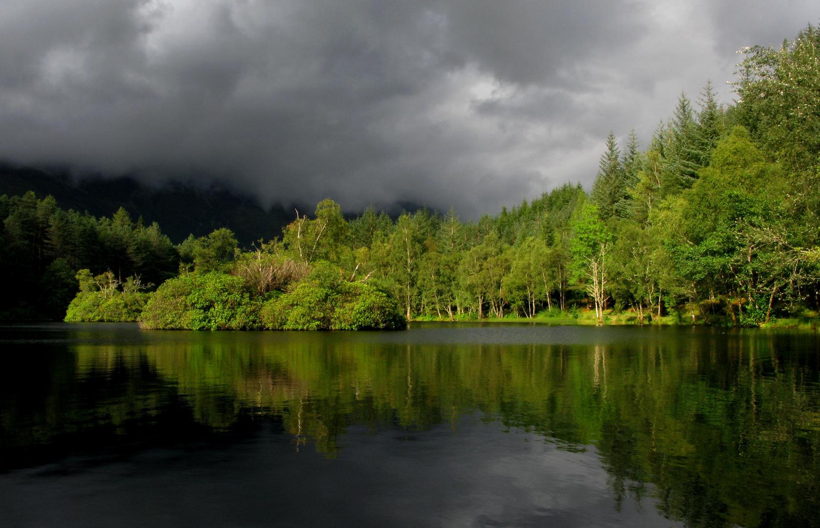 Evening Light on Glencoe Lochan, Scotland