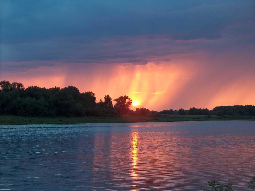 evening on the Volga river near Astrahan