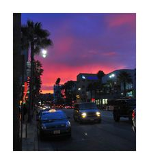 evening walk in LA