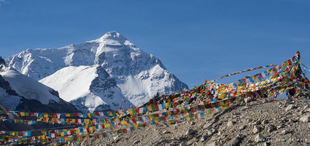 Everest Base Camp und Gebetsfahnen