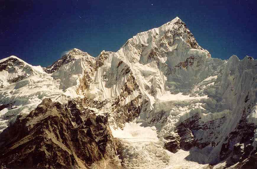 Everest und Nuptse, Fotograf: Eugen Stangl