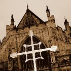 Exeter cathedral, a different view