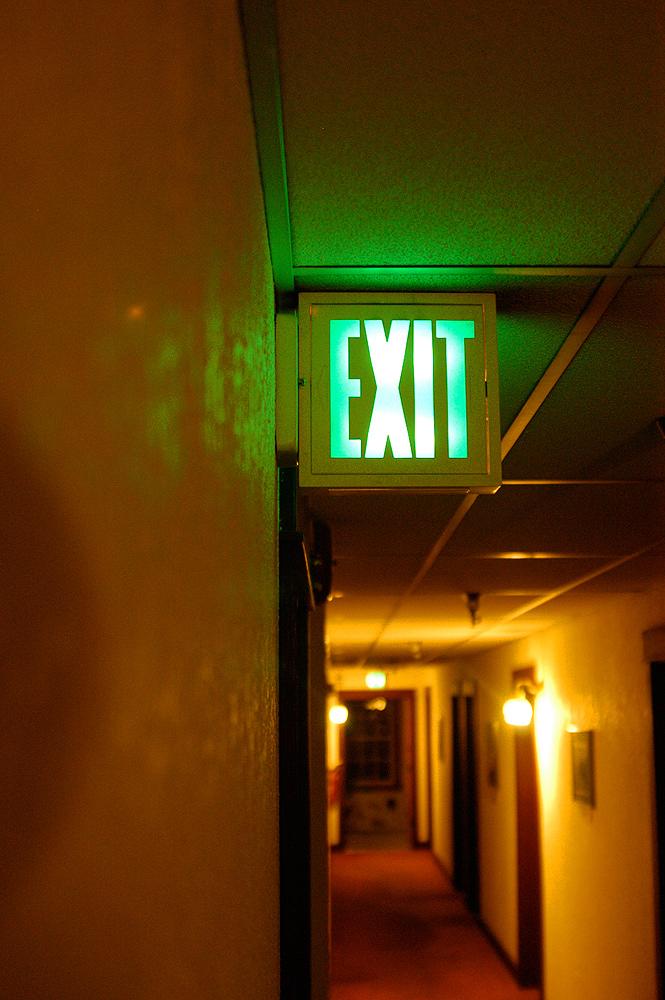 Exit Lampe im Dublin Inn in Seattle