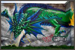 Exotisches Tier - Graffiti - Rheinparkcenter Duisburg