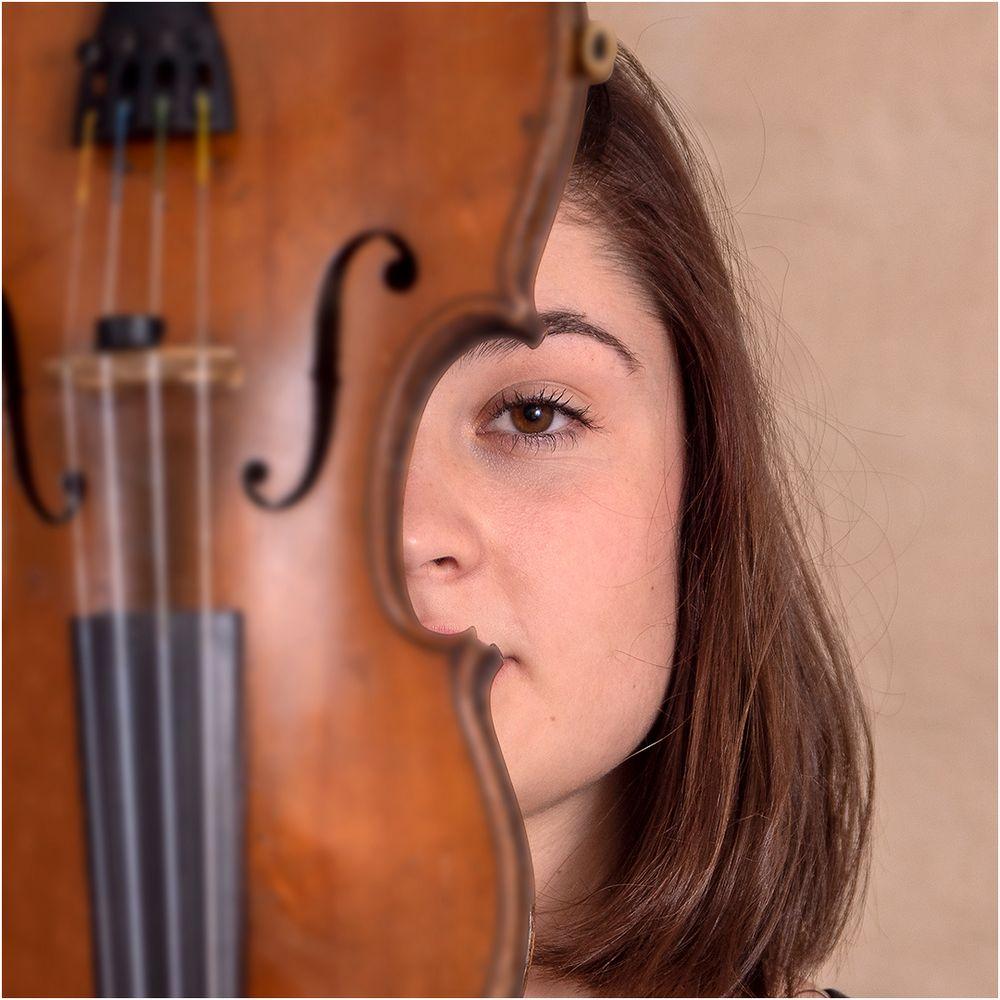 Experiment mit Geige