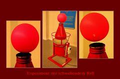 Experiment mit schwebendem Ball