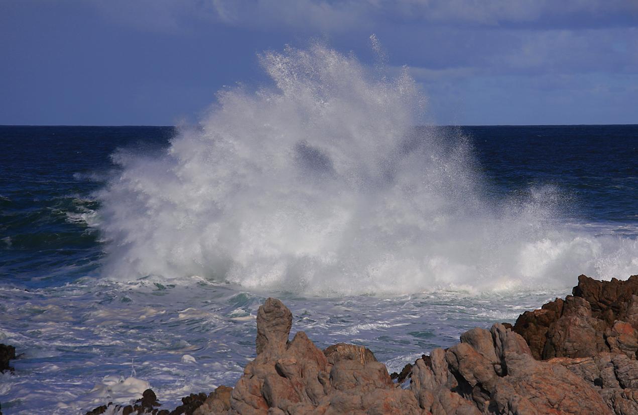 Explosion einer Welle
