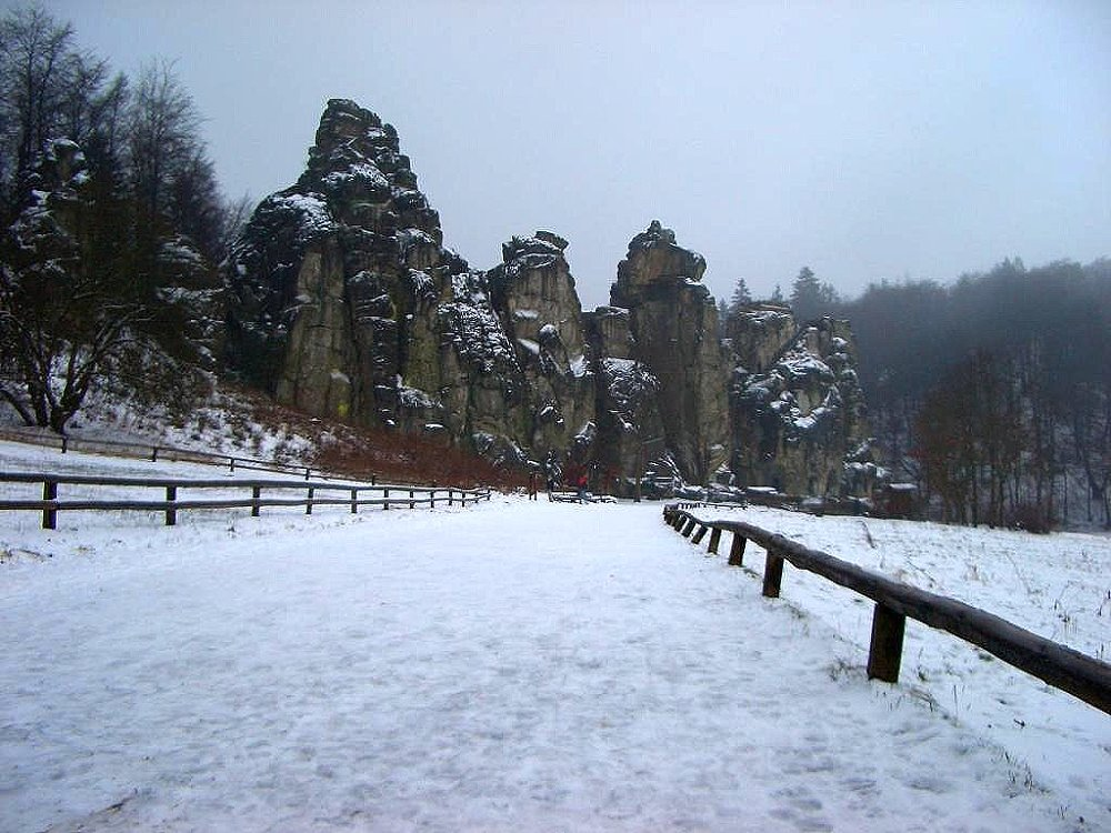 Externsteine im Winter
