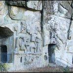 Externsteine - Kulturschutzdenkmal -  Felsenrelief und Grotten
