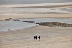 Extremes Niedrigwasser vor dem Borkumer Hauptstrand am 16.03.18 kurz vor Neumond