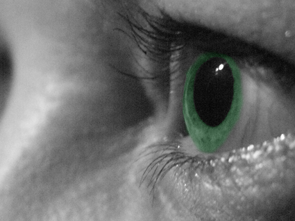 Eye in green