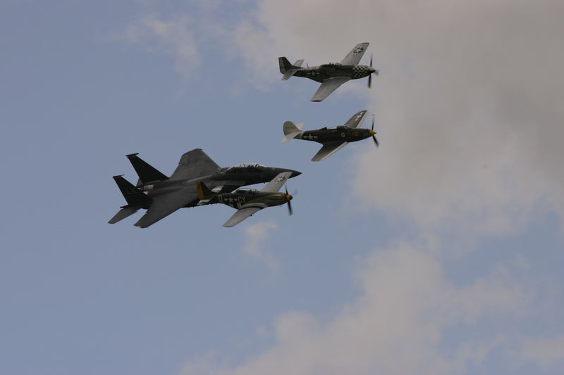 f-15 with p-51s and p-39