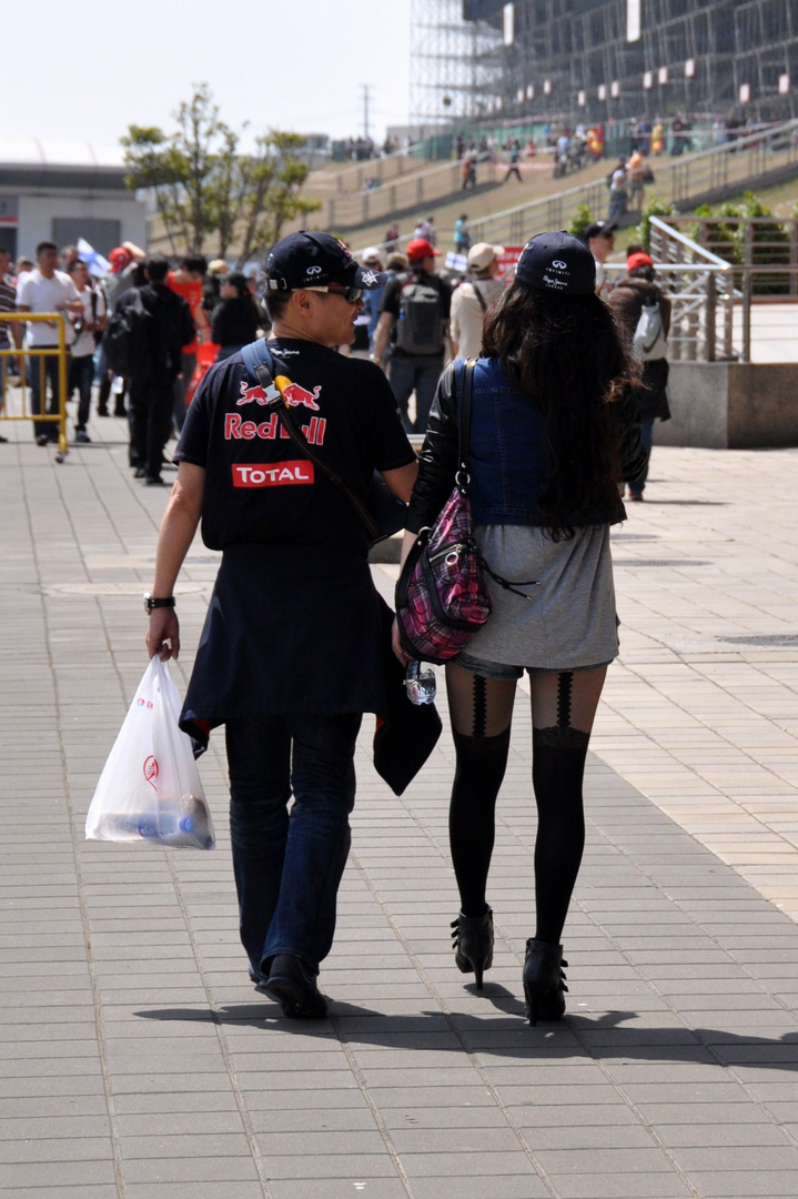 F1 Shanghai - Red Bull team