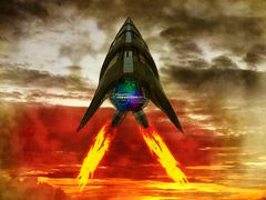""" F117 a Rakete """