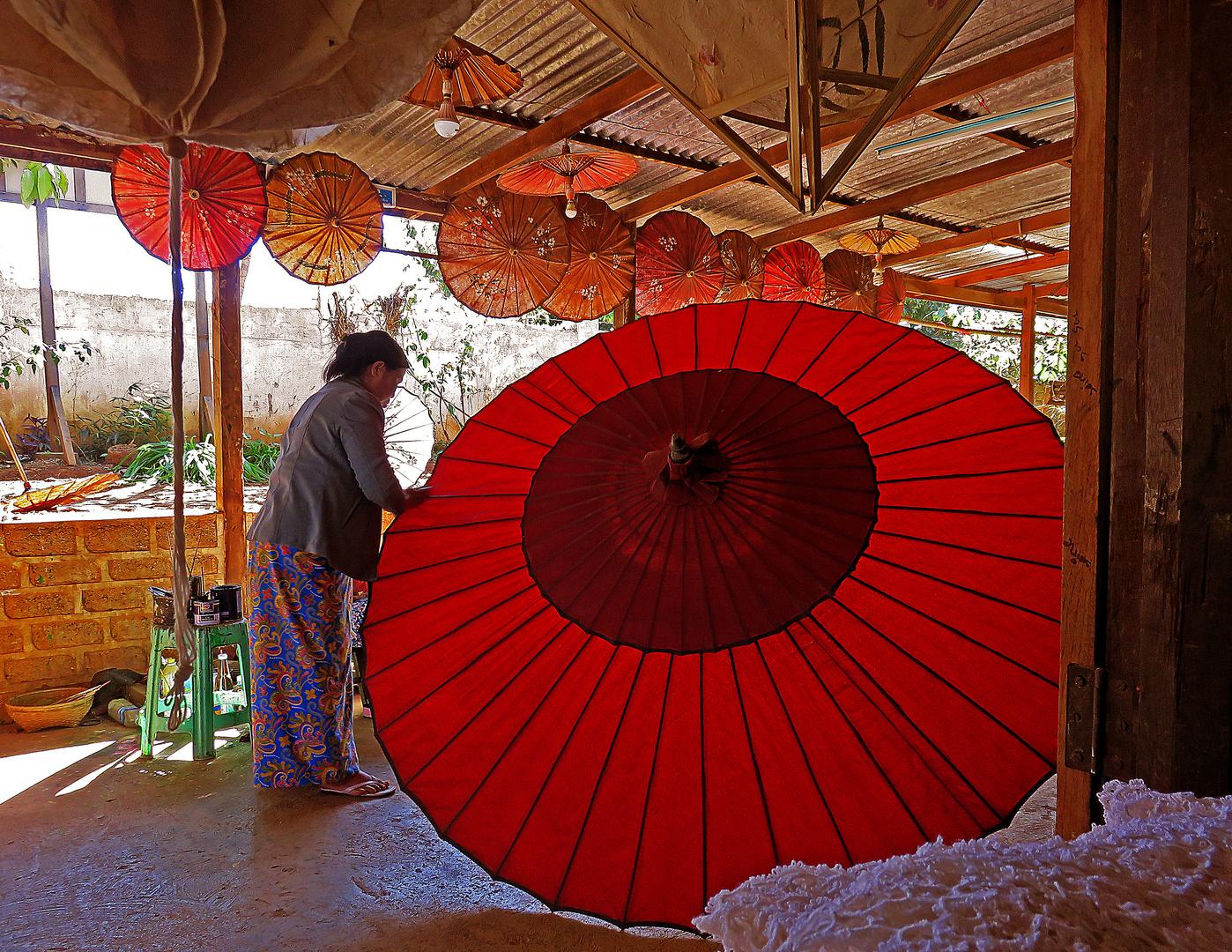 Fabbrica di ombrelli, Pindaya