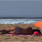 Face à la mer, …dorée sur tranche, …pile pour la photo … !