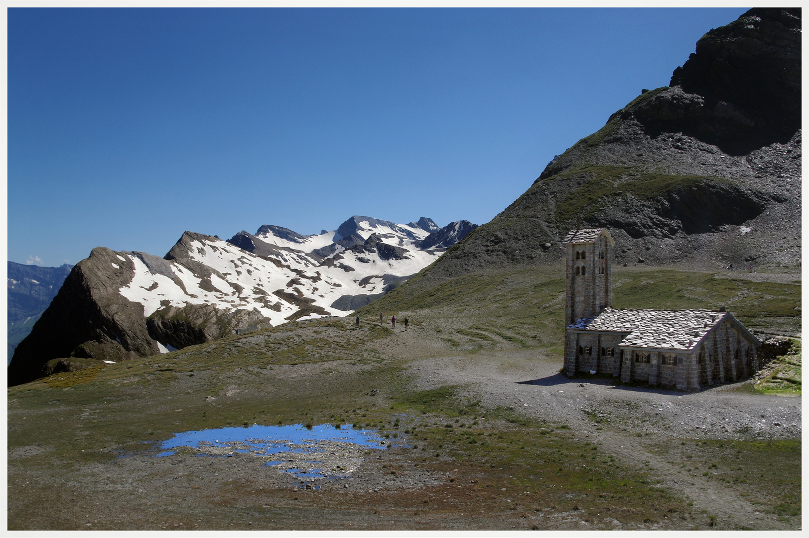 face aux glaciers de la vanoise , 2770m