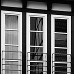 Fachwerk im Fenster