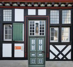 Fachwerkdetail in Bad Münstereifel, Langenhecke