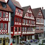 Fachwerkhäuser,  half-timbered houses, casas entramadas, Ochsenfurt (D)