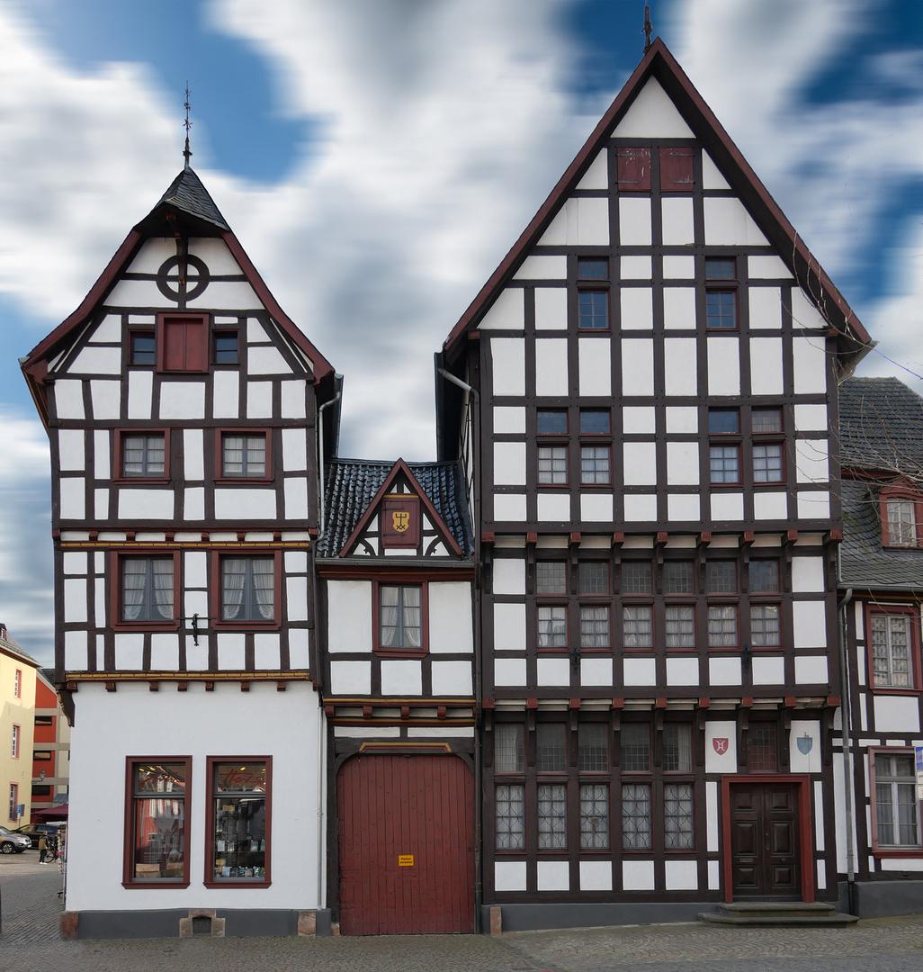 Fachwerkhäuser in Bad Münstereifel, Marktstraße