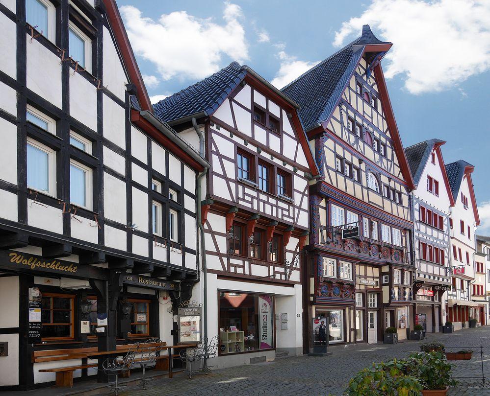 Fachwerkhäuser in Bad Münstereifel, Orchheimer Straße