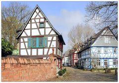Fachwerkhäuser in Eltville - Straße zur Burg