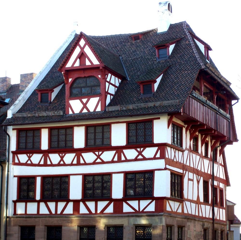 Fachwerkhaus in der Nürnberger Altstadt