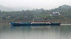 Fähre auf dem Jangtse (Jangtsekiang)