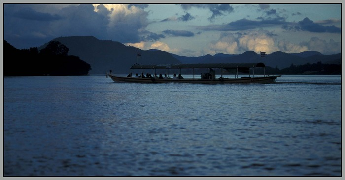 Fähre auf dem Mekong